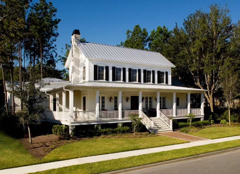 Image Result For Homes With Metal Roofs