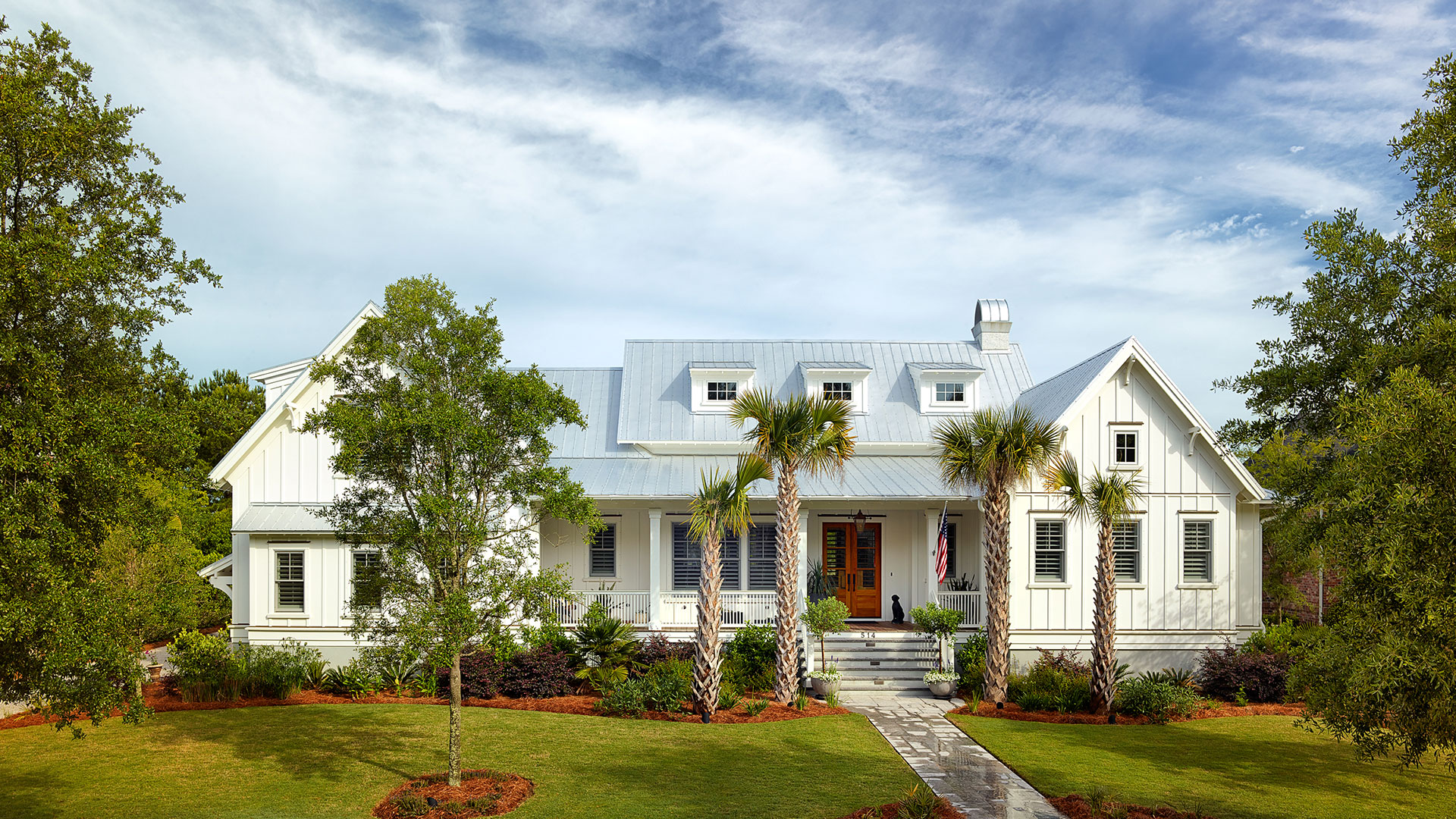 Golf course views custom home builder charleston sc for Coastal farmhouse plans